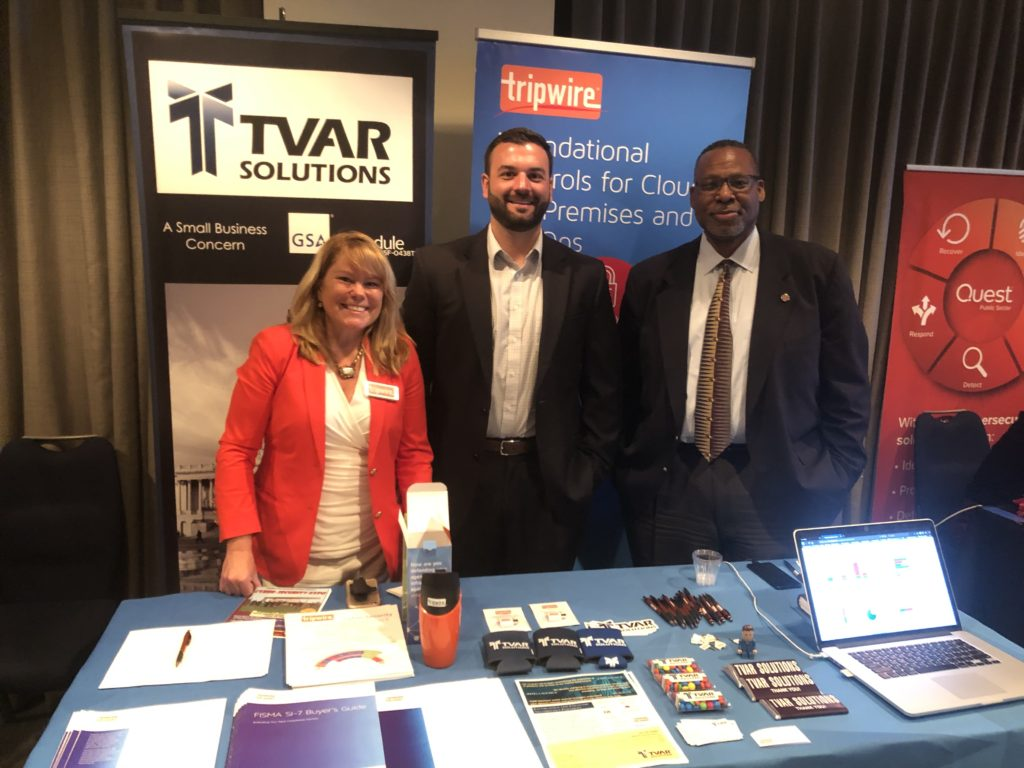 Aaron with our friends at Tripwire exhibiting at the Congress Cyber Expo.