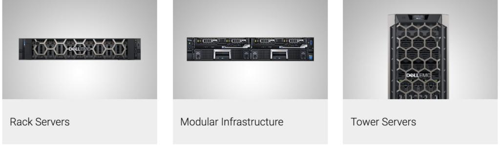 Rack Servers, Modular Infrastructure, Tower Servers