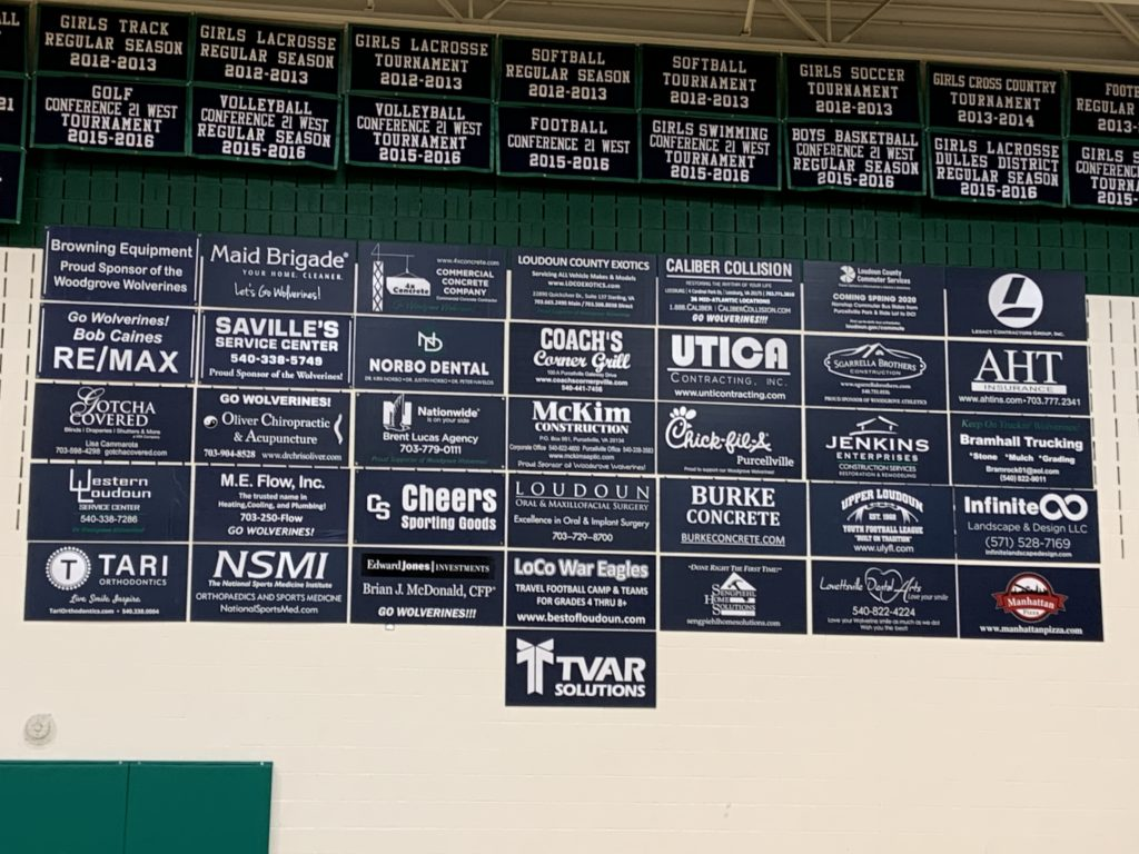 TVAR Solutions is up on the wall for the Woodgrove Wolverines